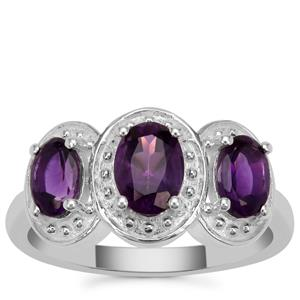 Zambian Amethyst Ring in Sterling Silver 1.50cts