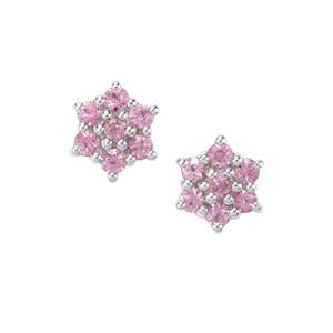 Sakaraha Pink Sapphire Earrings in Sterling Silver 0.40cts