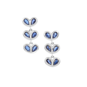 3.42ct Nilamani Sterling Silver Earrings