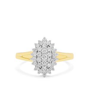 GH Diamond Ring in 18K Gold 0.50ct