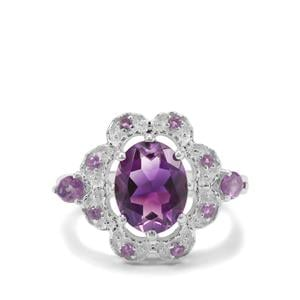 2.74ct Moroccan Amethyst Sterling Silver Ring