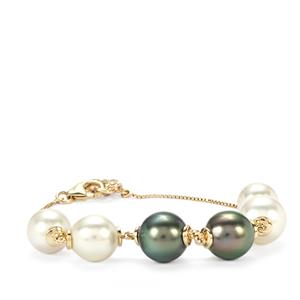 Maruata Cultured Pearl Bracelet with South Sea Cultured Pearl in 10K Gold