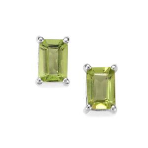 Changbai Peridot Earrings in Sterling Silver 1.17cts