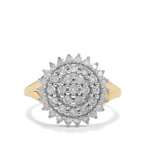1ct Diamond 9K Gold Diamantaire Ring