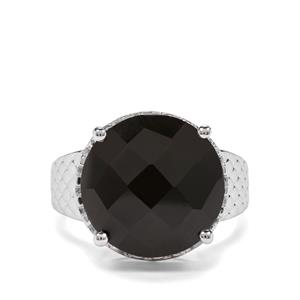 10ct Black Spinel Sterling Silver Ring
