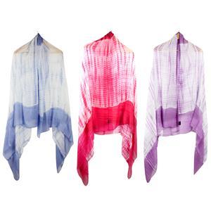 100% Modal Tie &  Dyed Ladies Destello Scarf (Choice of 3 Colours)
