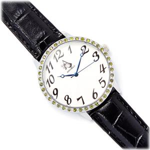 0.68cts Peridot Annabella Stainless Steel Watch