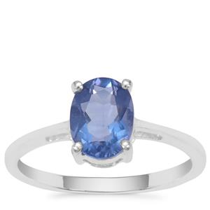 Colour Change Fluorite Ring in Sterling Silver 1.51cts