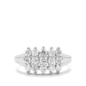 Diamond Ring in Platinum 950 1ct