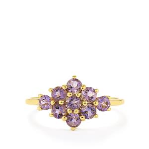 0.89ct Purple Scapolite 9K Gold Ring