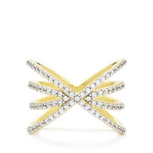 White Zircon Ring in Vermeil 1.03ct