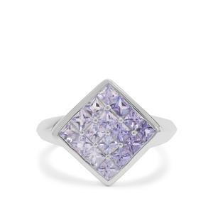 Tanzanite Ring in Sterling Silver 1.58cts