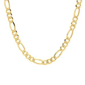 "18"" 9K Gold Couture Diamond Cut Figaro Chain 7.42g"