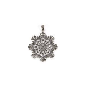 Natural Marcasite Pendant in Sterling Silver 0.89cts