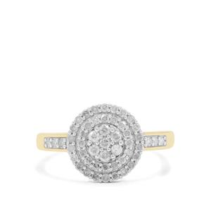 1/2ct GH Diamond 9K Gold Ring