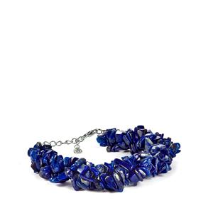 Lapis Lazuli Bracelet in Sterling Silver 190cts
