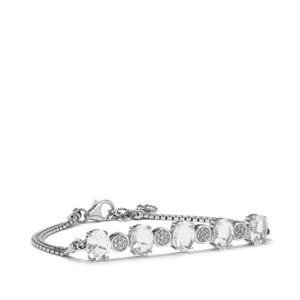 Itinga Petalite Bracelet with White Topaz in Sterling Silver 5.17cts