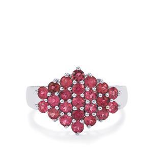 1.43ct Natural Pink Tourmaline Sterling Silver Ring