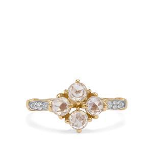 Rose Cut Ratanakiri Zircon Ring in 9K Gold 1.18cts
