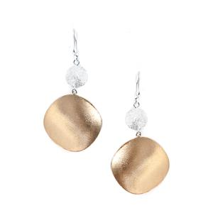 Viorelli Stardust Two Tone Sterling Silver Earrings