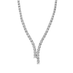 Diamond Necklace in Sterling Silver 1.10cts