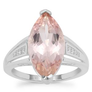 Galileia Topaz Ring with White Zircon in Sterling Silver 6.80cts