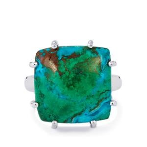 Chrysocolla Ring in Sterling Silver 14cts