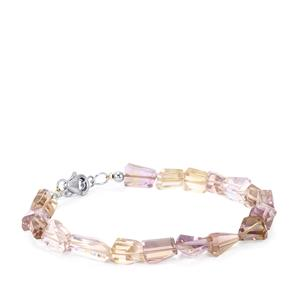 Ametrine Tumbled Bracelet in Sterling Silver 45cts