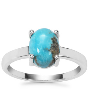Arizona Turquoise Ring in Sterling Silver 2.97cts