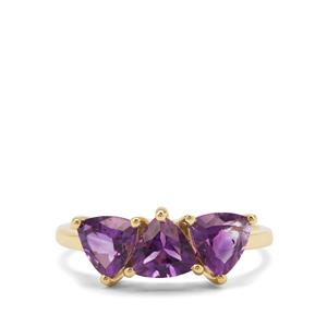 1.94ct Moroccan Amethyst 9K Gold Ring