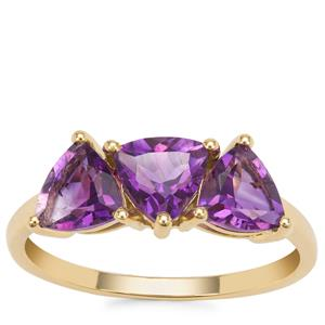 Moroccan Amethyst Ring in 9K Gold 1.94cts