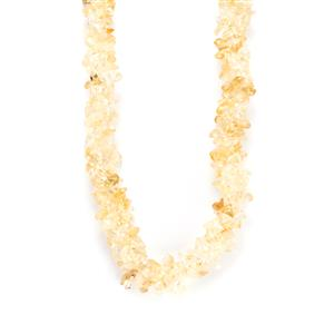 Rio Golden Citrine Nugget Necklace in Sterling Silver 260cts