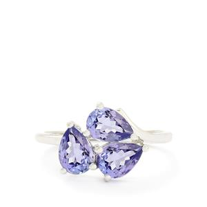 2.04ct AA Tanzanite 10K White Gold Ring