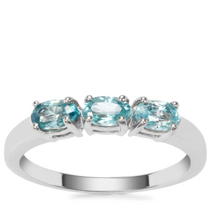 Ratanakiri Blue Zircon Ring in Sterling Silver 1.17cts