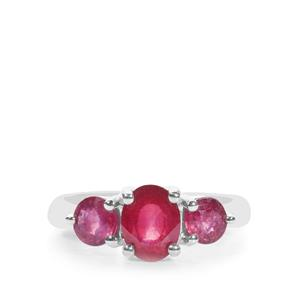 Malagasy Ruby Ring  in Sterling Silver 3.09cts (F)