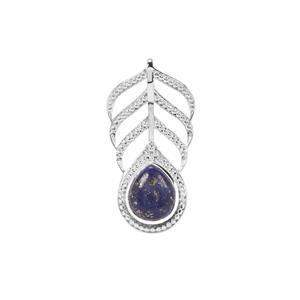 Sar-i-Sang Lapis Lazuli Pendant in Sterling Silver 7.42cts