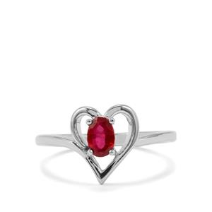 Thai Ruby Ring in Sterling Silver 0.60cts (F)