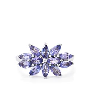 Tanzanite Ring in Sterling Silver 1.67cts