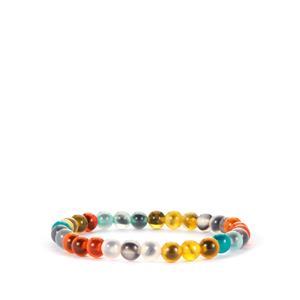 Multi-Colour Agate Stretchable Bracelet 50cts