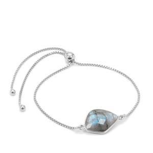 Paul Island Labradorite Slider Bracelet in Sterling Silver 6.35cts
