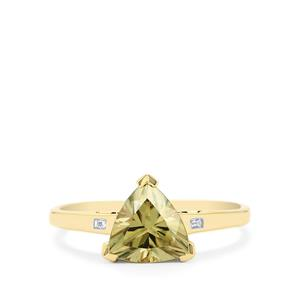 Csarite® & Diamond 14K Gold Ring ATGW 2cts