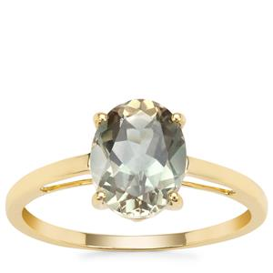 Peacock Parti Oregon Sunstone Ring in 9K Gold 1.71cts