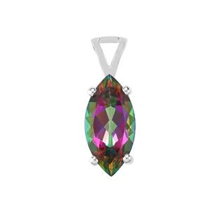Mystic Topaz Pendant in Sterling Silver 6.49cts