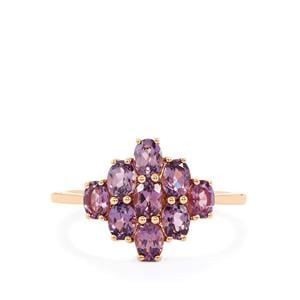 Mahenge Purple Spinel Ring in 10k Rose Gold 1.56cts