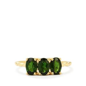 1.44ct Chrome Diopside 9K Gold Ring