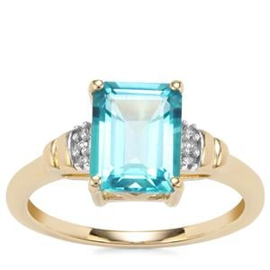Batalha Topaz Ring with Diamond in 9K Gold 2.75cts
