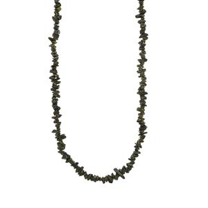 Epidote Nugget Bead Necklace 130cts