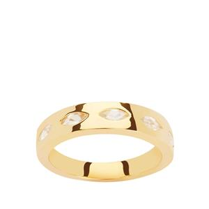 Ratanakiri Zircon Ring  in Gold Plated Sterling Silver 1.25cts