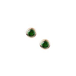 Tsavorite Garnet Earrings in 9K Gold 1cts