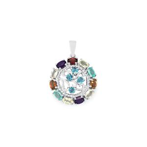 3.01ct Kaleidoscope Gemstone Sterling Silver Pendant